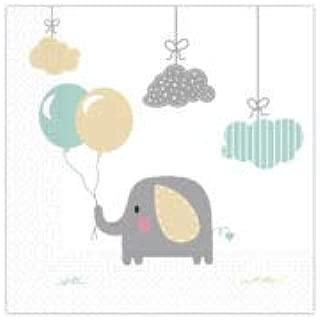 大象婴儿可堆肥纸巾(20 张装)