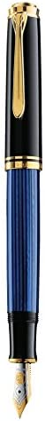 Pelikan 百利金 Souveran 帝王 M400 黑蓝色钢笔 14K M尖