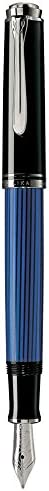 Pelikan 百利金 Souveran 帝王 M405 黑蓝色钢笔 14K F尖