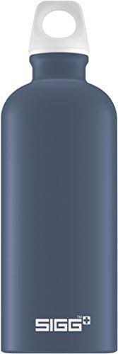 Sigg Lucid 午夜触控,设计饮水瓶,0.6 升,铝,不含BPA,深蓝色