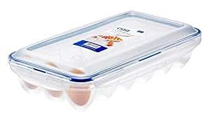Lock & Lock Egg Storer 带 18 孔 - 透明/蓝色 透明 32 x 17.5 x 32 cm HPL955