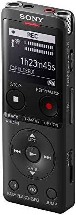 Sony 索尼 Icd-UX570 MP3/LPCM 数码录音机(数码录音机),内置 USB,4GB,OLED 屏幕 - 黑色