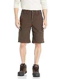 Smith's Workwear 男式 27.94cm 宽松弹性鸭绒帆布工装短裤