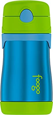 THERMOS 膳魔师 Foogo真空绝缘不锈钢吸管瓶,10盎司/约295.73毫升 蓝色/绿色