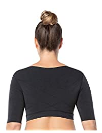Leonisa 无缝修身上臂袖衬衫塑形压缩背心带姿势矫正器