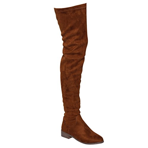 NATURE BREEZE FF05女式弹力过膝舒适贴合低方跟靴