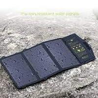 21 瓦太阳能电池板充电器带双 USB 端口可折叠*率户外太阳能电池板适用于智能手机。