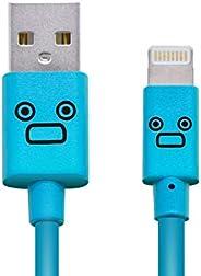 罗技公司 照明电缆 Lighting USB线 【支持Apple认证 iPhone&iPad】 带可爱脸部LHC-FUAL12CBU 闪电电缆 1.2m