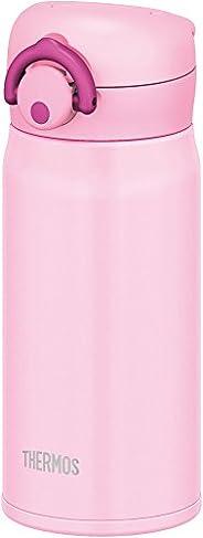 THERMOS 膳魔師 水杯 真空隔熱便攜式保溫杯【一鍵開啟式】0.35升 淺粉色 0.35L JNR-350 LP