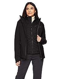 Jack Wolfskin 女式奥罗拉天空三合一防水混合羽绒保暖夹克