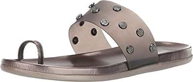 Kenneth Cole REACTION 女士 Slim Tricks Jem 趾环凉鞋 灰色 6 M US