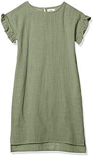 PALEMANON單層紗布 褶邊 袖 短袖 夏季連衣裙 女童 MN0SSOP205