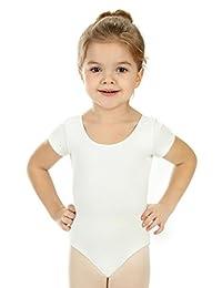 Elowel 女童基本款短袖紧身连衣裤(尺码 2-14 岁)多色
