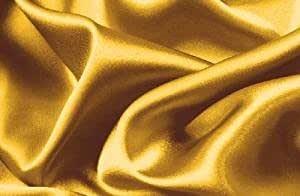 Hight Thread Count 纯色柔软丝绸饰品豪华豪华超柔软床单套装 金色 King