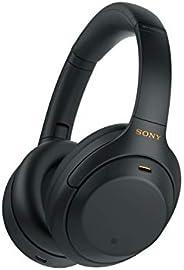 Sony 索尼 WH-1000XM4 無線降噪頭戴式耳機,帶麥克風用于電話通話和Alexa語音控制,黑色