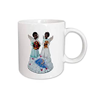 3dRose African-American Angels Ceramic Mug, 15-Ounce