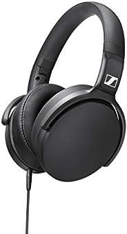 Sennheiser 森海塞尔 HD 400S 封闭式耳朵耳机,单按钮智能遥控,可拆卸电缆