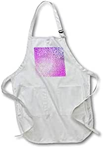 3dRose 粉色钻石豪华亮光 - 全长围裙,55.88 x 76.2 厘米,白色带口袋 (apr_252116_1)