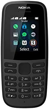 Nokia 105 Mobiltelefon (1, 8 Zoll Farbdisplay, FM Radio, 4 MB ROM, Dual-Sim) Black, Version 2019