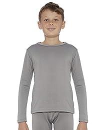 Rocky 男孩羊毛内衬保暖长袖圆领内衣打底 T 恤 灰色 Medium