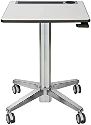 Ergotron 24-547-003 LearnFit 餐桌 - 桌子 - 移动 - 学校 - 矩形 - 白色银色