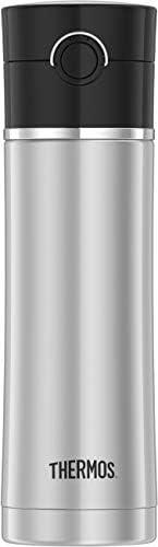 THERMOS 膳魔师 饮水瓶 带泡茶漏网, 黑色,16盎司/约0.47升