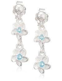 夏威夷珠宝 比夏威夷直接进口 耳环 银925・蓝宝石