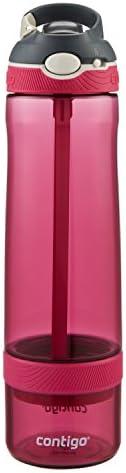 Contigo 康迪克 AUTOSPOUT Ashland 吸管水瓶,带浸泡器,26盎司/约769毫升,浆果色