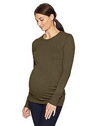 Motherhood 孕妇长袖圆领侧褶毛衣