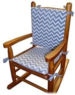 Baby Doll Minky Chevron Junior Rocking Chair Pad, Pink