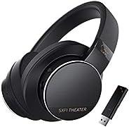 Creative SXFI Theater 2.4 GHz 低延迟无线 USB 耳机,具有* X-Fi 音频全息,50 毫米驱动器,长达 30 小时的电池寿命,3.5 毫米模拟模式,可拆卸麦克风,适用于电影