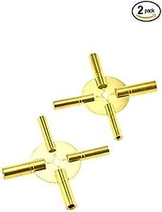 黄铜祝福大师钥匙适用于所有 ANTIQUE CLOCK - 黄铜色 - 共 8 爪,2 件均匀/奇味 (5191)
