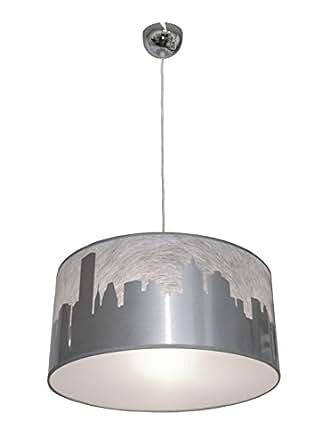 由 Grönlund 108050-032 费城状吊坠设计,纹理,银色,E27