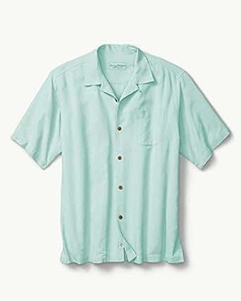 Tommy Bahama男衬衫短袖一字领加肥加大简约休闲BT317174 Light Caribbean Tile 2/XTL