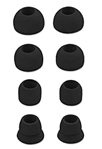 JNSA 8 件替换耳塞 耳塞 耳塞 适用于 Powerbeats3 节拍 dr dre 无线立体声耳机 S/M/L/Double Flange 黑色