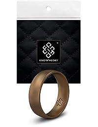 Knot Theory 男士和女士硅胶婚戒 - 舒适贴合超舒适优质橡胶戒指 金色、银色、铜色、黑色、玫瑰金 - 丈夫妻礼物