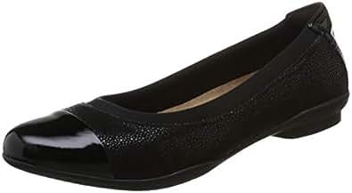 Clarks 女 Neenah Garden生活休闲鞋261288605030 黑色 35.5