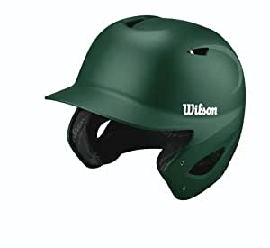 Wilson Collegiate 2.0 Fitted Batting Helmet, Dark Green, Medium