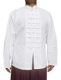RaanPahMuang 中式立领肚脐棉夹克多排扣  白色 Medium