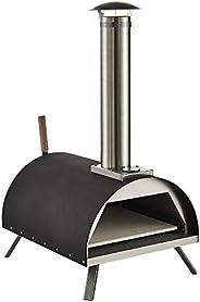 GRILIFE 13英寸(约33厘米)户外披萨烤箱木炭风味颗粒披萨制作器不锈钢烹饪鱼牛排鸡肉汉堡蔬菜KY018B