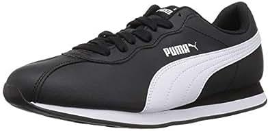 PUMA 彪马 男士 Turin 运动鞋 黑色/白色 4
