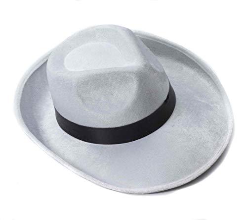 Forum Novelties 男士成人猎枪帽服装配饰 Adult White Velvet Fedora W/blk Band 均码 白色/黑色