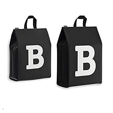 男女旅行鞋袋 - 个性化首字母 - 4 只装 字母 B Variety