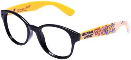 NBA 潮牌时尚纯框 明星签名款 N131 P8黄色框/灰片(亚马逊自营商品, 由供应商配送)