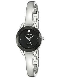 Armitron 女式 75/5327BKSV 钻石装饰表盘银色手镯手表