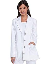 Dickies 高级纯色色调扭曲女式 71.12 厘米缺口翻领实验室大衣