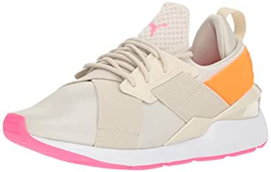 PUMA Muse Chase 儿童运动鞋 Birch-shocking Orange 10.5 Little Kid