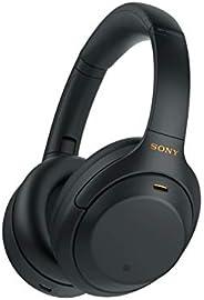 Sony 索尼 WH-1000XM4 噪音无线头戴式耳机,30小时待机,内置麦克风用于电话通话,黑色