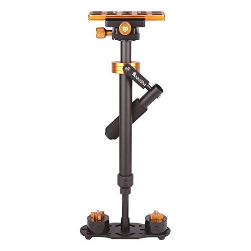 デジタル一眼レフカメラ/カメラ/家庭用DV /スマートフォン/ iPhone、高さ/体重調節可能、オレンジ用Annsm Pro 24インチ/ 60cmカメラハンドヘルドスタビライザー