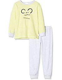 Schiesser 女孩黄色鼠标Md 长款两件套睡衣